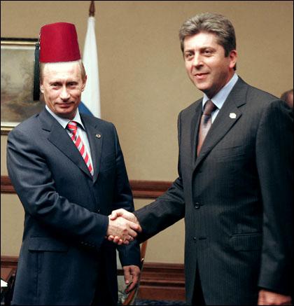 Путин с новата си шапка от България.