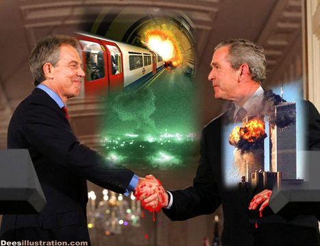 Англичаните помнят как Блеър продаде войниците си и народа си на чужди интереси след вътрешен тероризъм.