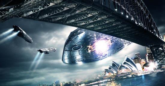 """Кадър от новия сериал """"V"""", където извънземните – няма изненада – идват с лоши намерения…"""