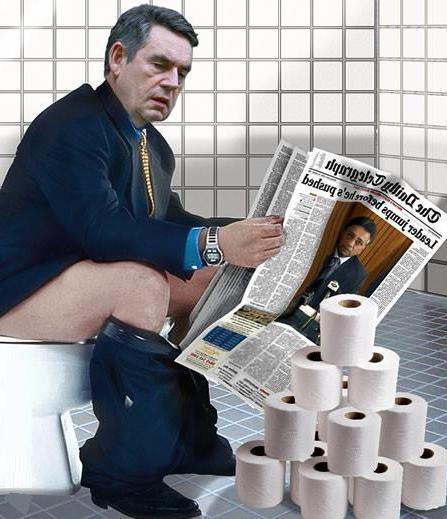 Гордън Браун и пресата