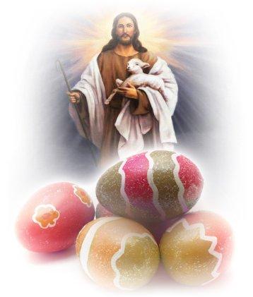 Възкръсналият Христос и яйцата