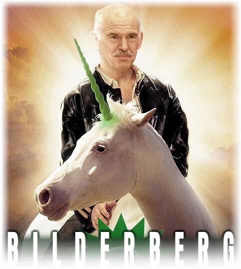 Черният Папандреу на бял кон