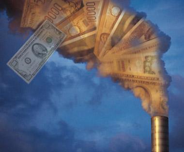 Въглеродните емисии и бизнесът на банкстерите