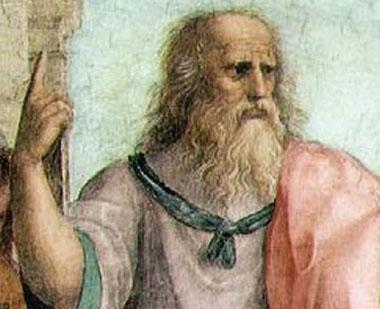 Платон показва (среден?!) пръст (на демокрацията?!).