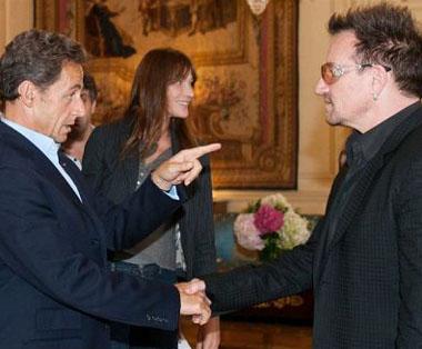 Боно и Саркози