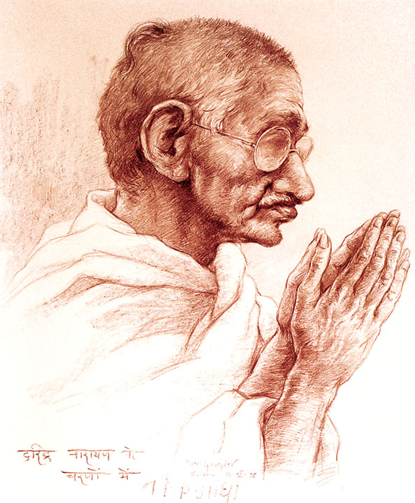 Борис Георгиев – портрет на Махатма Ганди