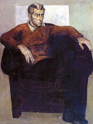 Портрет на Б. Райнов от Св. Русев