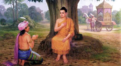 Готама Буда и цар Бимбисара