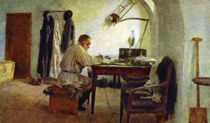 Иля Репин - Толстой на работа
