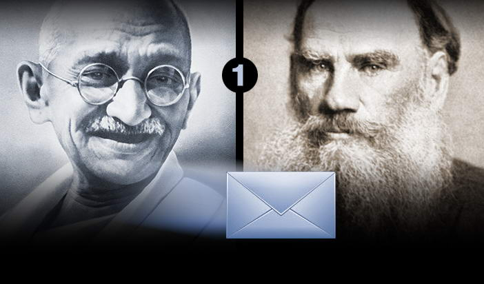 Мирната съпротива: Първо писмо от Ганди до Толстой