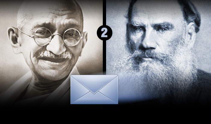 Мирната съпротива: Първи отговор на Толстой към Ганди