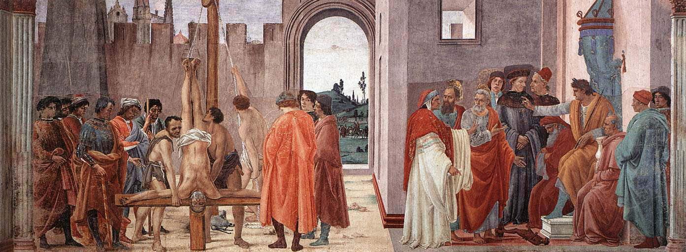 """Филипино Липи: """"Разпъването на Св. Петър и прението със Симон Влъхва пред император Нерон"""""""
