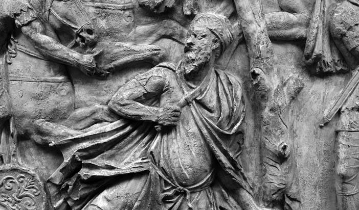 Декефал на Траяновата колона в Рим