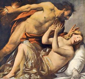 """Зевс се явява с пълната си сила пред Земела и причинява смъртта ѝ. Сравни със схващането на мистиците, че """"Бог е огън всепояждащ"""" и че """"земята в сегашната епоха е мъртва (дълбоко заспала)""""."""