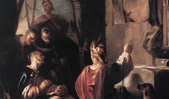 """Йохан Хайнрих Шьонфелд: """"Скити на гроба на Овидий"""" (1640)"""
