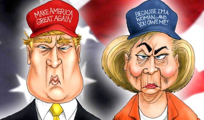 Единствената разлика между Хилъри Клинтън и Доналд Тръмп