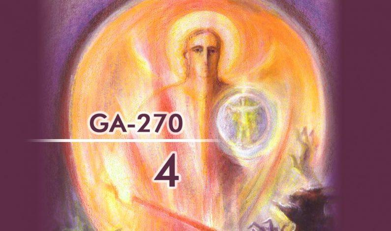 Извадки от четвърти езотеричен урок (GA-270): Отвъд паметта и думите
